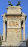 Arco della Pace on piazze Sempione Royalty Free Stock Photo
