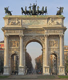 Arco della Pace on piazze Sempione Royalty Free Stock Photography