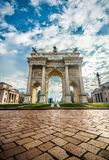 Arco della Pace Porta Sempione in Milan Royalty Free Stock Images