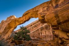 Arco della parete al parco nazionale di arché, UT U.S.A. fotografie stock libere da diritti