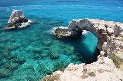 Arco della roccia cyprus Immagini Stock Libere da Diritti