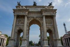 Arco della Schritt in Mailand Lizenzfreies Stockfoto