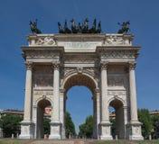 Arco della Schritt, Mailand Stockbilder