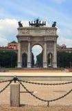 Arco della Schritt, Mailand Stockbild