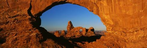 Arco della torretta Fotografia Stock