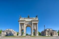 Arco dellatempo Milaan Royalty-vrije Stock Fotografie