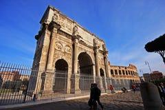 Arco di科斯坦蒂诺在罗马 库存图片