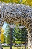 Arco di Antler degli alci, Jackson Hole Wyoming immagini stock libere da diritti