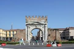 Arco di Augusto Rimini royaltyfri fotografi