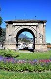 Arco di Augustus in Aosta, Italia immagine stock