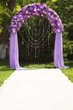 Arco di cerimonia nuziale Fotografia Stock