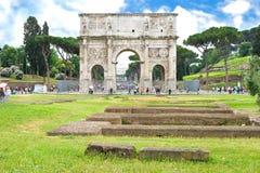 Arco di Constantino em Roma, ele imagens de stock