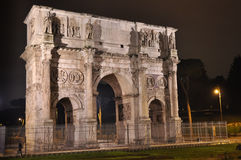 Arco di Constantino at night Stock Images