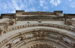 Arco di costruzione generosamente decorato della facciata Immagine Stock Libera da Diritti
