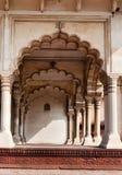 Arco di Diwan sono, Corridoio del pubblico pubblico nella fortificazione rossa di Agra Fotografie Stock Libere da Diritti