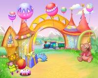 Arco di fiaba in strada di infanzia royalty illustrazione gratis