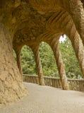 Arco di Güell del parco Immagini Stock