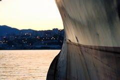 Arco di grande nave Immagine Stock Libera da Diritti