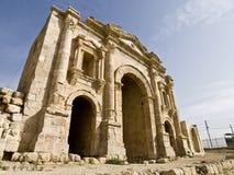 Arco di Hadrian del trionfo, Jerash fotografie stock libere da diritti