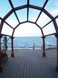 Arco di legno Immagini Stock