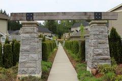 Arco di legno Fotografia Stock