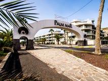 Arco di marzo della palma Fotografie Stock