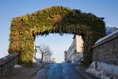 Arco di natale fotografia stock libera da diritti