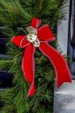 Arco di Natale con le conchiglie di ostrica fotografia stock libera da diritti