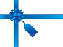 Arco di natale e scheda del regalo Fotografia Stock