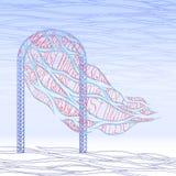 Arco di nozze con appena progettazione di iscrizione sposata Fotografia Stock