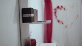 Arco di nozze Decorazioni di nozze video d archivio