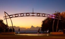 Arco di paradiso dei surfisti Fotografia Stock