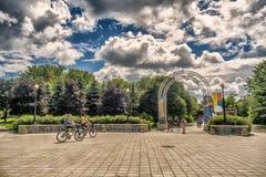 Arco di Parc Jean-Drapeau Immagine Stock