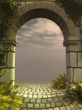 Arco di pietra antico Fotografia Stock Libera da Diritti