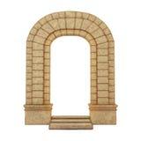 Arco di pietra antico Immagini Stock Libere da Diritti