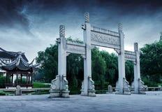 Arco di pietra antico cinese Fotografia Stock