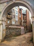 Arco di pietra in Città Vecchia Fotografia Stock Libera da Diritti