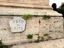 Arco Di Tito Στοκ Εικόνες