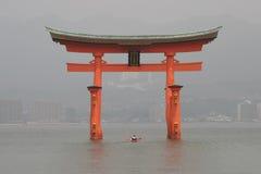 Arco di Torii a Miyajima Fotografie Stock Libere da Diritti