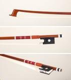 Arco di violino rosso Fotografie Stock