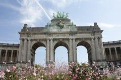 Arco do aniversário quinquagésimo em Bruxelas Imagem de Stock