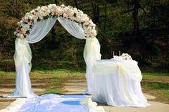 Arco do casamento foto de stock royalty free