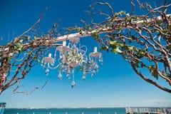 Arco do casamento Fotografia de Stock