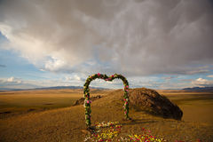 Arco do casamento foto de stock