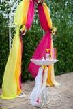 Arco do casamento Fotografia de Stock Royalty Free