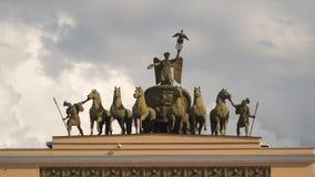 Arco do estado maior geral em St Petersburg video estoque