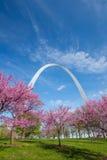 Arco do Gateway de St Louis fotografia de stock