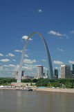 Arco do Gateway em St Louis imagem de stock