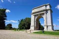 Arco do memorial do parque nacional da forja do vale foto de stock