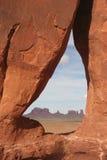 Arco do Teardrop ao vale do monumento Imagem de Stock